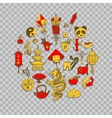 Icons of China decorated in circle vector image