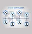 infographic design with shield icons vector image vector image