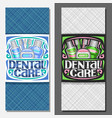 layouts for dental care vector image vector image