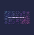 machine intelligence linear colorful vector image