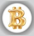 metallic gold b bitcoin symbol balloons golden vector image vector image