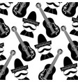 mexican man and guitar tradition seamless pattern vector image vector image