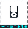 mp3 player icon flat vector image vector image