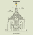 our lady church in nuremberg vector image vector image