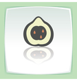 outline pear fruit icon Modern infographic logo vector image vector image