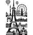paris city skyline 8 vector image vector image