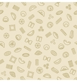 pasta and dumplings seamless pattern vector image
