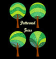 patterned trees set vector image