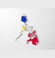 philippines map with shadow effect presentation vector image vector image