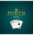 Poker casino poster logo template design Royal