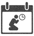 Pray Time Calendar Day Grainy Texture Icon vector image vector image