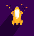 Rocket ship Flat icon vector image vector image