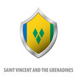 saint vincent and the grenadines flag on metal vector image