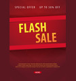 sale poster or flyer design discount background vector image