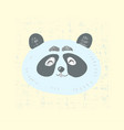 scandinavian style cute panda face with smile vector image vector image
