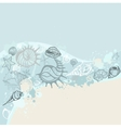 Sea background Hand drawn vector image vector image