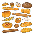 set bread color on white vector image