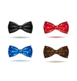 set of colorful realistic bow ties vector image vector image
