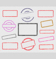 set of empty rubber stamps vector image