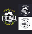 set of isolated soccer or football ball vector image vector image