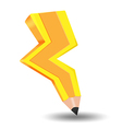 Spark Bolt Yellow Pencil Idea vector image vector image