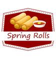 Spring rolls vector image