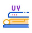 tanning in solarium icon outline vector image