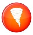Tornado icon flat style vector image vector image