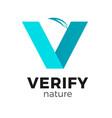 v shape logo vector image