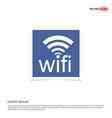 wifi icon logo - blue photo frame vector image