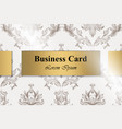 business card with baroque ornament vector image