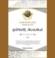 certificate template elegant and stylish with vector image