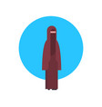 arabic woman icon wearing traditional clothes full vector image