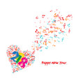 merry christmas and happy new year 2018 musical vector image