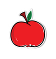 apple for sticker vector image