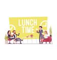 lunch time in the office vector image