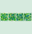 4 tropical seamless natural patterns exotic vector image
