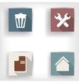 Abstract social media bottons flat design