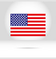 american flag on a white gray background vector image vector image