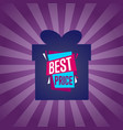 best price sticker on box silhouette vector image vector image