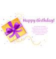 birthday poster present box template vector image