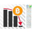 bitcoin panic fall chart flat icon with bonus vector image vector image