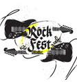 black guitar print vector image vector image