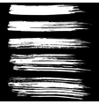 Black ink brush strokes isolated on black vector image vector image