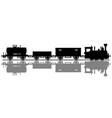 black silhouette a vintage steam train vector image vector image