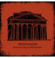Black silhouette Pantheon hand drawn vector image vector image