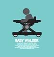 Black Symbol Baby Walker vector image