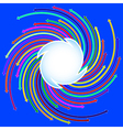 blue background with colored arrows vector image vector image