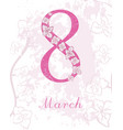 card international womens day 8 march postcard vector image