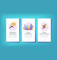 career development app interface template vector image